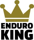 Enduro king with crown. Vector Stock Photo