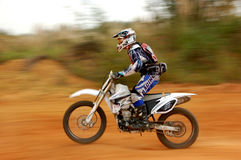 enduro motocyklu jeździec Fotografia Stock
