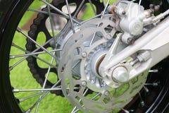 Enduro motorbike wheel and chain Royalty Free Stock Photo