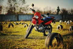 Enduro motorcycle Stock Photography