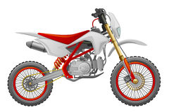 Enduro. Off-road motorcycle on a white background Stock Photography