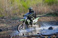 Enduro off-roading in five-day race Russian rally 2014 Royalty Free Stock Photos