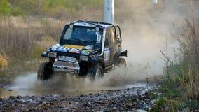 Enduro que off-roading na reunião de cinco dias 2014 do russo da raça Fotos de Stock Royalty Free