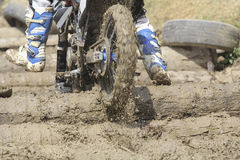 Enduro racer on the track Royalty Free Stock Image