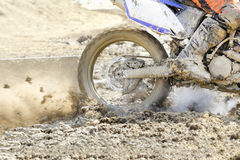 Enduro racer on the track Royalty Free Stock Photos