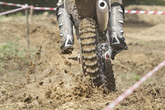 Enduro racer on the track Stock Image
