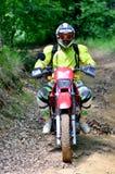 Enduro racerbil Fotografering för Bildbyråer
