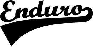 Enduro retro font. Wheel vector Royalty Free Stock Images
