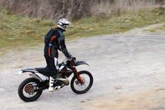 Enduro rider Stock Image