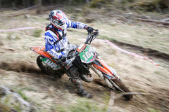Enduro rider on his motorbike Royalty Free Stock Images