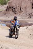 Enduro rider at motocross competition Stock Images