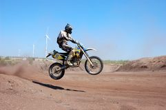 Enduro rider at motocross competition Stock Photography