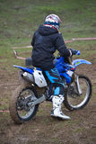 Enduro rider on track Stock Photography