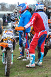 Enduro riders before competition Stock Photography