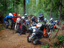 Enduro Romania 1. Enduro competition in forests of Romania Royalty Free Stock Images