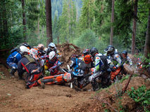 Enduro Romania 2. Enduro competition in forests of Romania Royalty Free Stock Photography