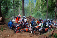 Enduro Romania 3. Enduro competition in forests of Romania Stock Photography