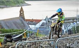 Endurocross motorcycle racing Glenarm Co.Antrim Northern Ireland. Endurocross motorcycle racing in Glenarm Co.Antrim Northern Ireland stock image