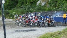 Endurocross motorcycle racing Glenarm Co.Antrim Northern Ireland. Endurocross motorcycle racing in Glenarm Co.Antrim Northern Ireland stock photo