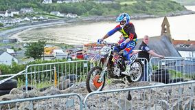 Endurocross motorcycle racing Glenarm Co.Antrim Northern Ireland. Endurocross motorcycle racing in Glenarm Co.Antrim Northern Ireland royalty free stock photography