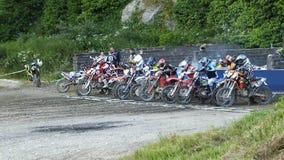 Endurocross motorcycle racing Glenarm Co.Antrim Northern Ireland. Endurocross motorcycle racing in Glenarm Co.Antrim Northern Ireland stock photography