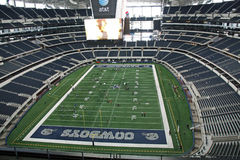 Endzone-Ansicht des Cowboy-Stadions Lizenzfreies Stockbild