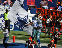 endzone de cowboys de célébration de bengals Photo stock