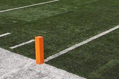 Endzone del campo di football americano fotografie stock libere da diritti