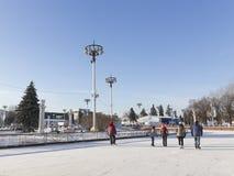 ENEA的大室外溜冰场 免版税库存图片