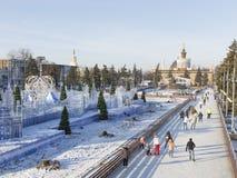 ENEA的异常的圣诞节滑冰场 免版税库存图片