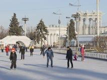 ENEA的美丽的室外溜冰场 库存照片