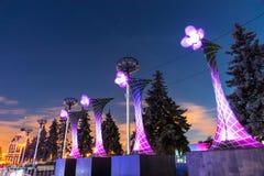 A ENEA (VDNH) Festival internacional o círculo da luz Imagem de Stock Royalty Free
