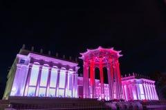 A ENEA (VDNH) Festival internacional o círculo da luz Imagem de Stock