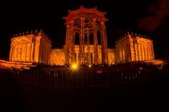 A ENEA (VDNH) Festival internacional o círculo da luz Fotografia de Stock