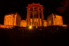 The ENEA (VDNH). International festival The Circle of Light. Stock Photography
