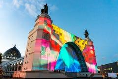 ENEA (VDNH) Międzynarodowy festiwal okrąg światło Zdjęcie Stock