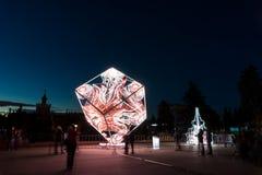 ENEA (VDNH) Międzynarodowy festiwal okrąg światło Obraz Stock