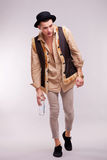 Enebriated man walking Royalty Free Stock Images