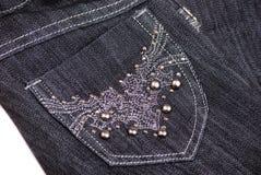 Enegreça calças de brim Imagem de Stock Royalty Free