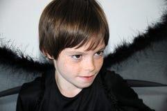 Enegreça o anjo Fotografia de Stock