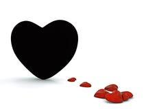 Enegreça o coração Fotos de Stock