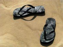 Onde fiz eu deixe minhas sandálias do flip-flop Foto de Stock Royalty Free