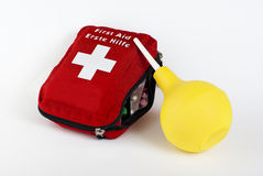 Enema and first aid kit Royalty Free Stock Photo