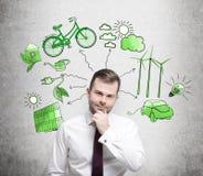 Energía alternativa, ambiente limpio Imágenes de archivo libres de regalías