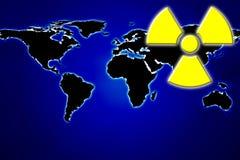 Energía atómica del mundo Imagen de archivo libre de regalías