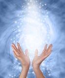 Energía curativa chispeante del azul brumoso Foto de archivo