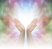 Energía curativa divina Imagenes de archivo