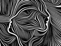 Energía de líneas internas ilustración del vector