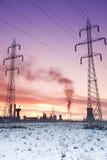 Energía de la contaminación y concepto de la industria Foto de archivo libre de regalías