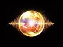 Energía de la partícula de la onda Foto de archivo